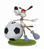 Amusing 3d dog football player. Stock Images