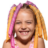 Amusing girl with hairstyle Royalty Free Stock Photo