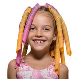 Amusing girl with hairstyle Stock Photography