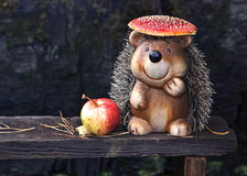 Amusing hedgehog Stock Images