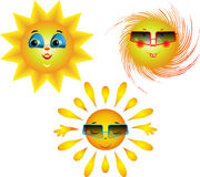 Amusing images of the sun Stock Image