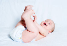 The amusing kid royalty free stock photo