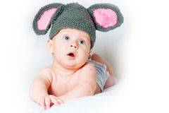 The amusing kid - a little mouse Stock Image