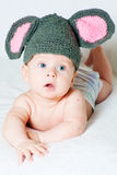 The amusing kid - a little mouse Stock Photography