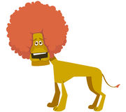 Amusing lion Stock Photography