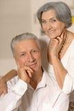 Amusing old couple Stock Image