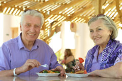 Amusing old couple Royalty Free Stock Photography