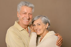 Amusing old couple Stock Image