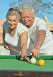 Amusing old couple Royalty Free Stock Photo