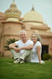Amusing old couple Royalty Free Stock Images