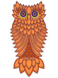 Amusing orange owl Royalty Free Stock Image