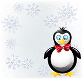 Amusing penguin in bow tie Royalty Free Stock Photos