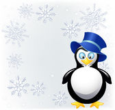 Amusing  penguin with cylinder hat Stock Images