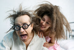 Amusing portrait of spouses Royalty Free Stock Images