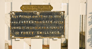 Amusing signs; old and new. Royalty Free Stock Images