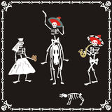 Amusing skeletons on wedding Stock Image