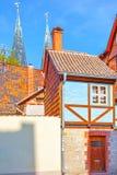 Amusing small half-timbered house royalty free stock photo