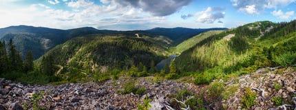 Amut halna jeziorna panorama Zdjęcia Royalty Free