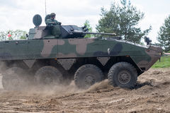 AMV XC-360P Rosomak armored vehicle on Military show Royalty Free Stock Photo