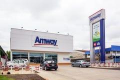 Amway ist eine amerikanische Firma Lizenzfreies Stockfoto