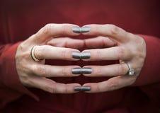 Amy's händer Arkivbild