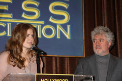 Amy Adams, Cecil B. DeMille, Pedro Almodovar Royalty Free Stock Photos
