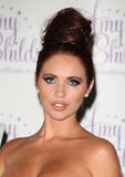 Amy Childs. Launches her perfume '' at Aura, London. 15/08/2012 Picture by: Alexandra Glen / Featureflash Stock Photo