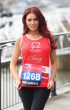 Amy Childs. At the Virgin London Marathon - Celebrities photocall London. 17/04/2013 Picture by: Henry Harris / Featureflash Stock Photography