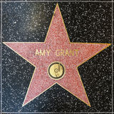 Amy Grant's star on Hollywood Walk of Fame Stock Photos