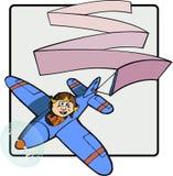 Amy med det flyg- banret Arkivfoto