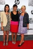 Amy Poehler, Aubrey Plein, Rashida Jones stock foto