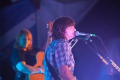 Amy Ray Sings en el festival salvaje del ganso Foto de archivo