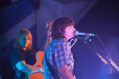 Amy Ray Sings at the Wild Goose Festival Stock Photo