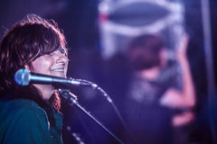 Amy Ray Smiling at the Wild Goose Festival Royalty Free Stock Image