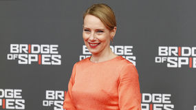 Amy Ryan attends German premiere of Bridge of Spies in ZOO Palast cinema on November 13, 2015 in Berlin, Germany Royalty Free Stock Photo
