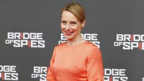 Amy Ryan nimmt an Deutschlandpremiere der Brücke der Spione in ZOO Palast-Kino am 13. November 2015 in Berlin, Deutschland teil Lizenzfreies Stockfoto