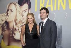 Amy Schumer and Bill Hader. Both comedians and actors, arrive on the red carpet for the world premiere of the romantic comedy, Trainwreck, at Alice Tully Hall stock images