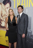 Amy Schumer and Bill Hader. Comedian/writer/actress Amy Schumer arrives on the red carpet for the world premiere of Trainwreck with co-star, funnyman Bill Hader Royalty Free Stock Images