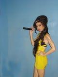 Amy Winehouse, el cantante, en la señora Tussauds imagen de archivo libre de regalías