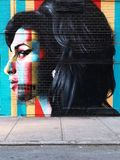 Amy Winehouse-Graffiti auf der Wand in New York City stockfoto
