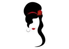 Amy Winehouse - minimalist version, vektorstående av jazzsångaren vektor illustrationer