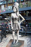 Amy Winehouse. Statue of pop legend Amy Winehouse in Camden Town, London Royalty Free Stock Image