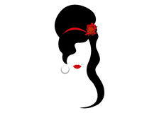 Amy Winehouse - versión minimalista, retrato del vector del cantante del jazz Fotografía de archivo libre de regalías