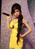 Amy Winehouse. Wax statue at Madame Tussauds in London stock photos