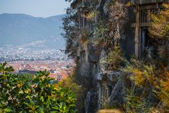 Amyntas rock tombs stock photography