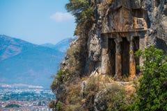 Amyntas rock tombs royalty free stock photos