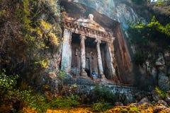 Amyntas rock tombs royalty free stock photo