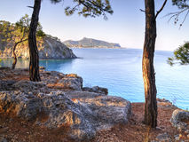 Çamyuva, Kemer, coast and beaches of Turkey Stock Photo