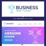 Análise bonita da marca do conceito do negócio, busca, informat ilustração royalty free
