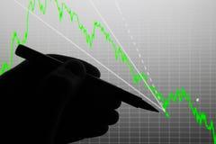 A análise da carta dos dados na exposição Imagens de Stock Royalty Free